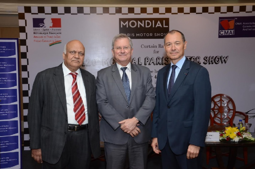 L to R : Prof. N K Goyal, President, CMAI Association of India, Mr. Jean-Marc FENET, Minister-Counsellor for Economic Affairs, Embassy of France in India, Mr. Jean-Claude GIROT, General Commissary, Paris Motor Show