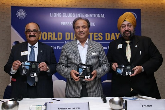 L-R: Mr. V K Luthra, Chairman LCCIA & International Director; Dr. Naresh Aggarwal, Chairman LCIF & Immediate Past International President Lions Clubs International; Mr. J P Singh, International Director, Lions Clubs International