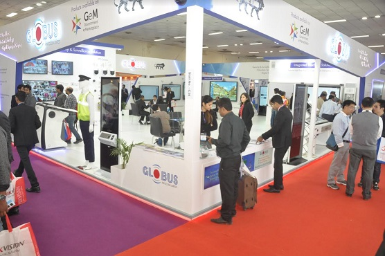 Globus Infocom Stall and Customer Interaction at Pragati Maidan for IFSEC 2018