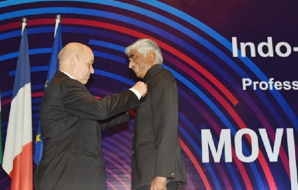 French Minister of Europe and Foreign Affairs, H.E. Mr. Jean-Yves Le Drian Honouring Internationally Renowned Producer Ashok Amritraj