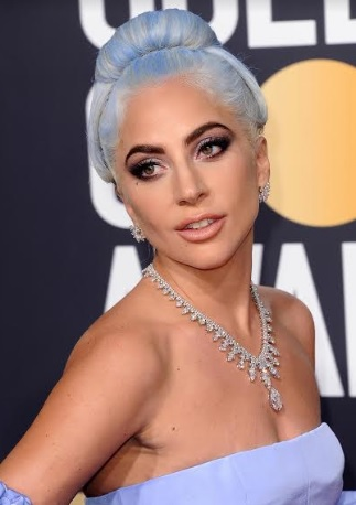 Lady Gaga wearing Platinum Jewelry
