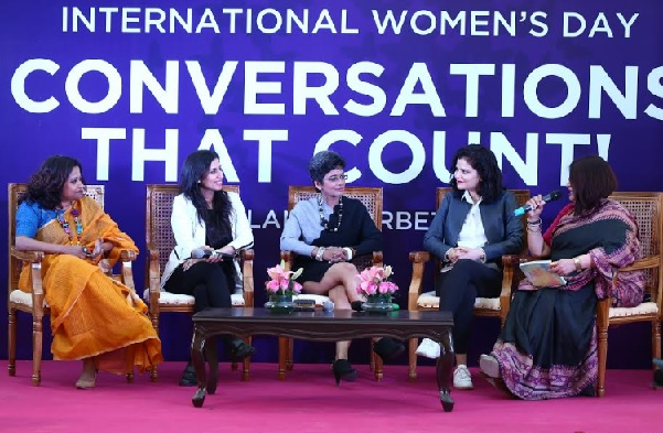 DLF5 Organizes a Panel Discussion on International Women's Day at Horizon Plaza, Gurugram
