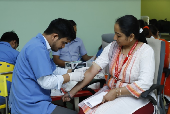 Free health checkup camp for screening of Hepatitis of B & C at Suncity School, Sector 54