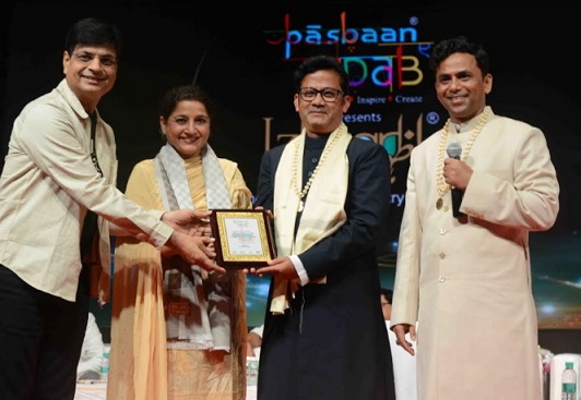Irshad Kamil, Kavita Seth, Farhan Wasti and IPS officer Quaiser Khalid