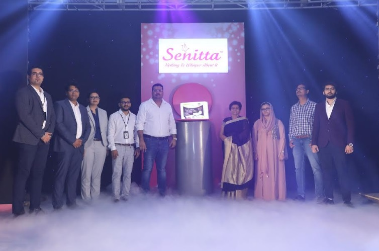 A glimpse from the Senitta product launch with the Honourable Mrs. Sanyukta Bhatia, Mayor, Lucknow in attendance