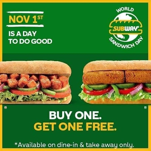 Subway® - BUY ONE GET ONE FREE