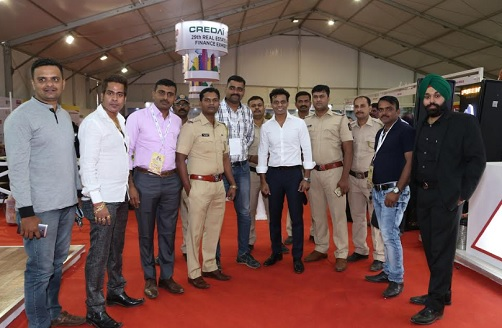 Police & Govt. officials visit to the CREDAI MCHI 29th Property Expo
