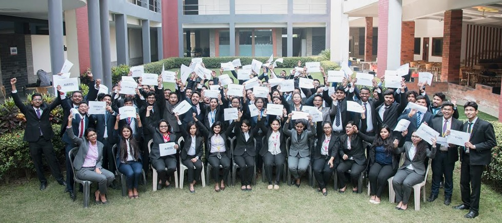 Students of GBS celebrate the successful closure of Full Time Placements 2020