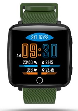 Lenovo Carme NA Smartwatch (Green Strap Regular)