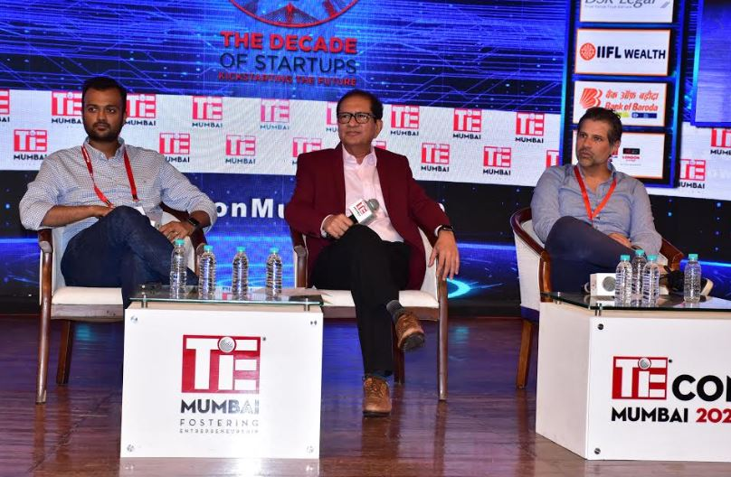 Harsh Jain, Atul Nishar and Ashish Hemrajani on the pannel @ TiEcon Mumbai 2020