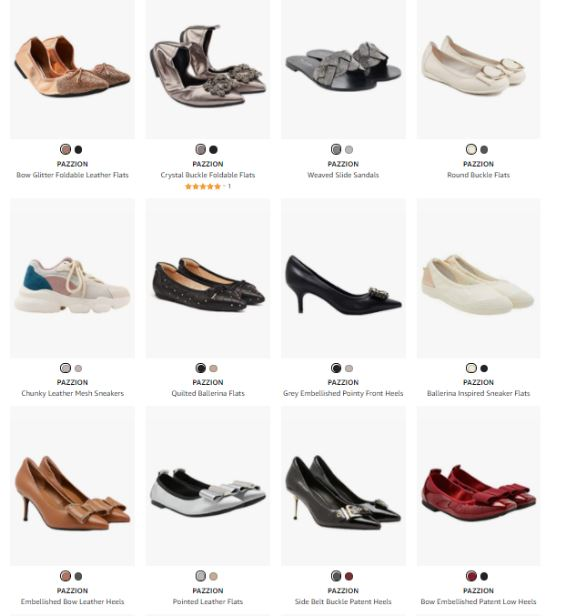 Singapore Based Shoe-Label Pazzion Launched on Amazon India