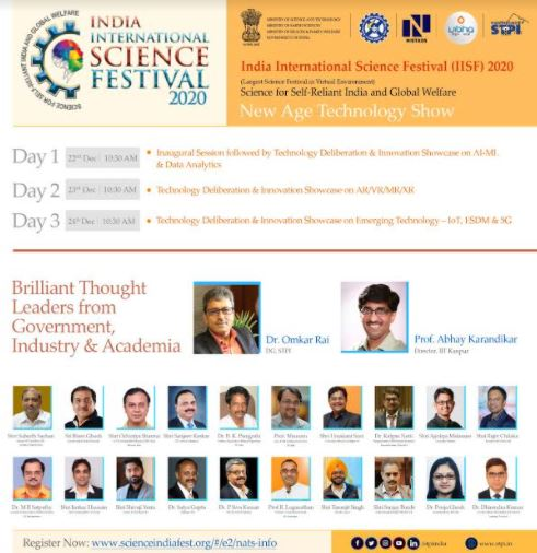 India International Science Festival 2020 Witnesses Innovative Interventions of Self-reliant India