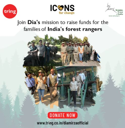 Dia Mirza is Part of Tring's Icons For Change, an Initiative to Support & Protect India's Frontline Forest Staff