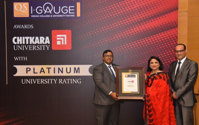 """Chitkara University becomes India's First University to Get the Coveted """"Platinum"""" Rating by QS I-GAUGE"""