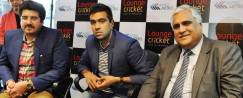 ​Opening of Lounge Cricket at Rapid Metro, L-R-Varun Pasricha, Director Lounge Cricket; R Ashwin, Off-spinner, Indian Cricket Team; Mr Rajiv Banga, MD & CEO IL&FS Rail Ltd
