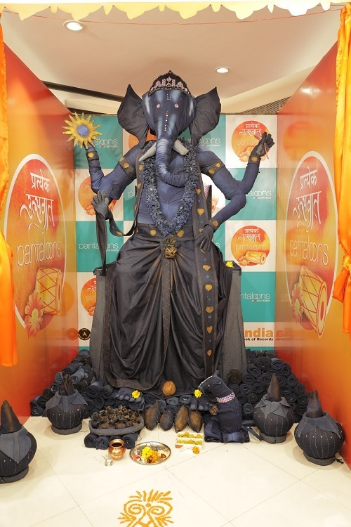 PantloonEnter the Indian Book Of Record With Denim Lord Ganapati .!