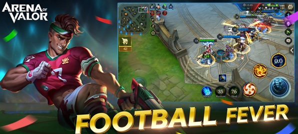 Tencent Games Arena of Valor Launches New Game Mode Football Fever