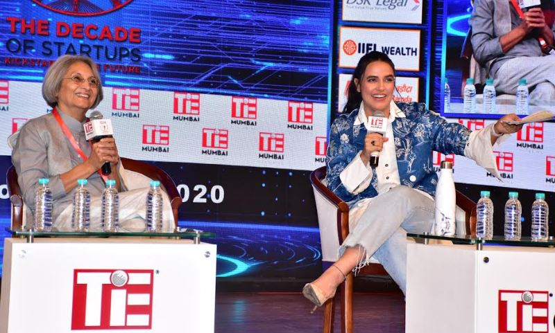 Ma Anand Sheela in a fireside chat with Neha Dhupia @ TiEcon Mumbai 2020