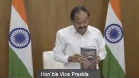 """Hon'ble Vice President of India Sri M. Venkaiah Naidu Launches Book """"Bringing Governments and People Closer"""""""