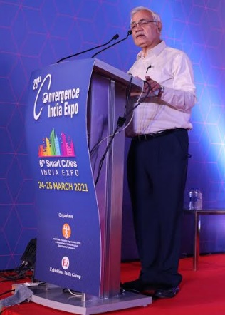Shri Durga Shanker Mishra, Secretary, MoHUA, Sets the Tone at the City Leader's Conclave on Day 2 of the 28th Convergence India and 6th Smart Cities India Expo 2021