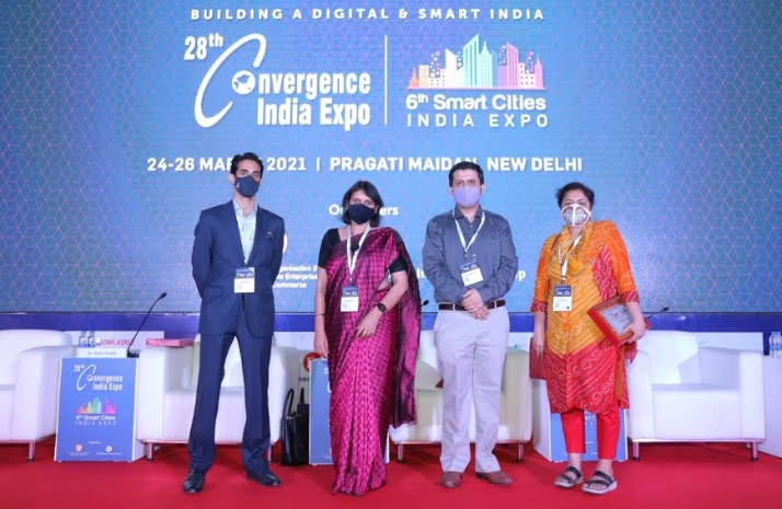 Emerging Tech Summit held on Day 2 at the 28th Convergence India and the 6th Smart Cities India Expo 2021 at Pragati Maidan, New Delhi