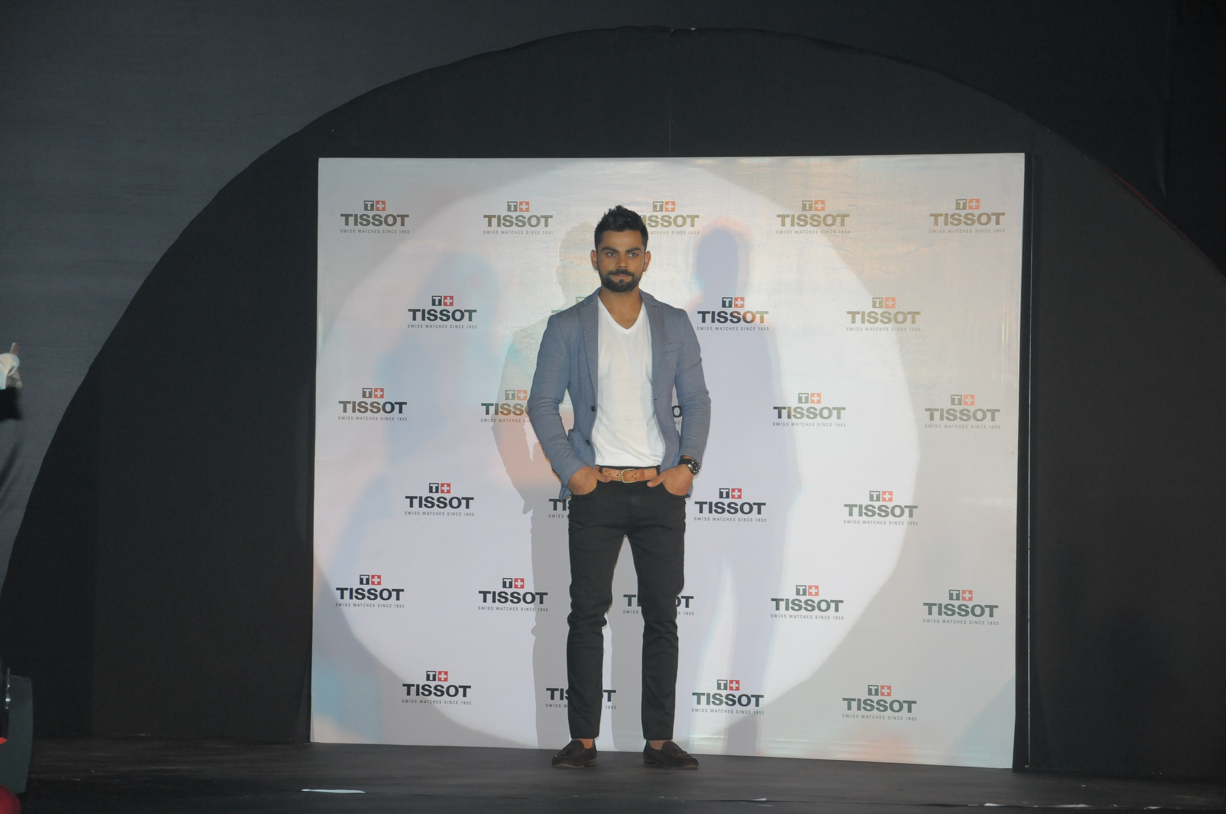 Virat Kohli - The new male Indian Brand Ambassador - being announced at the event in Delhi