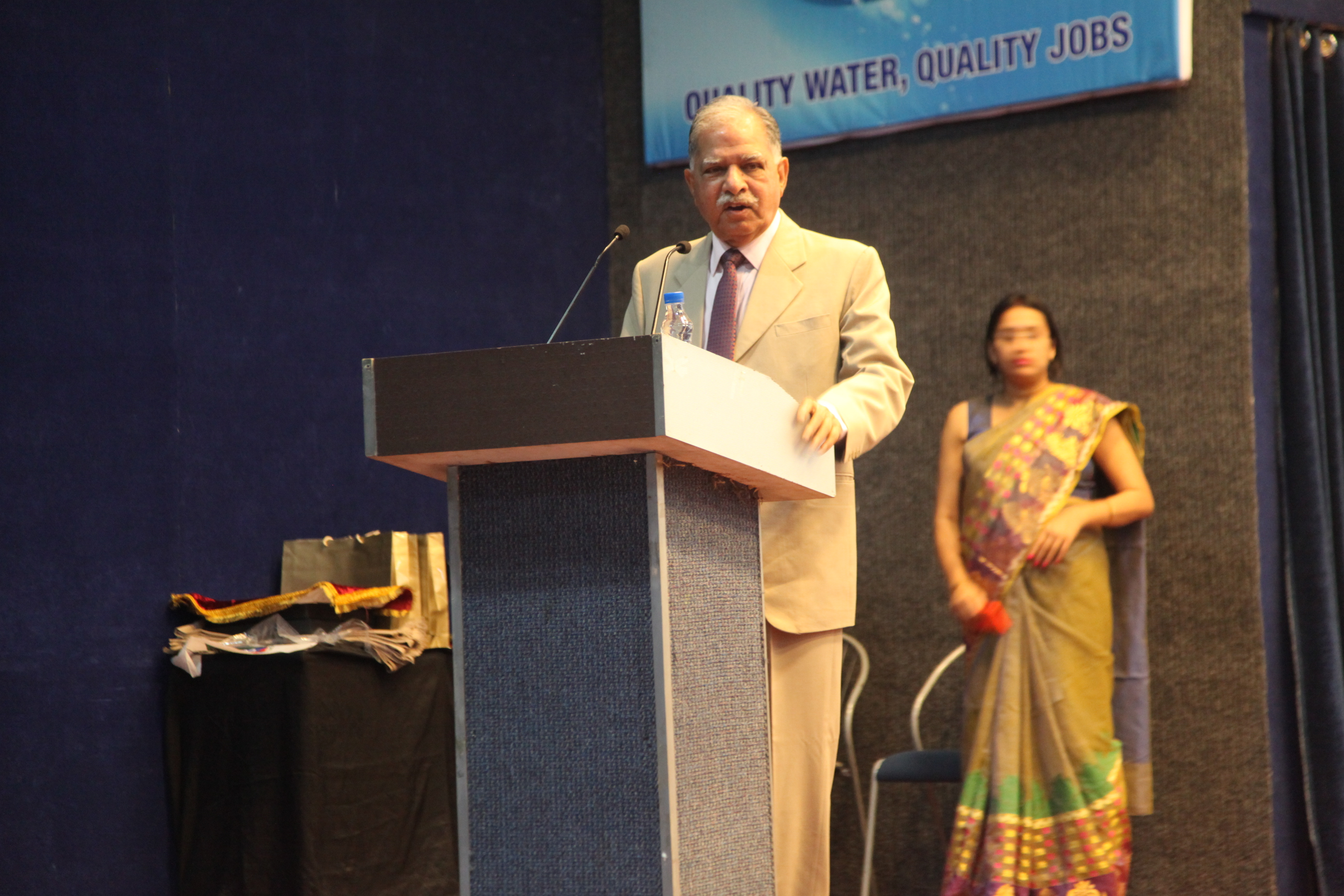 Dr. D K Chadha deliberating on the significance of the World Water Day