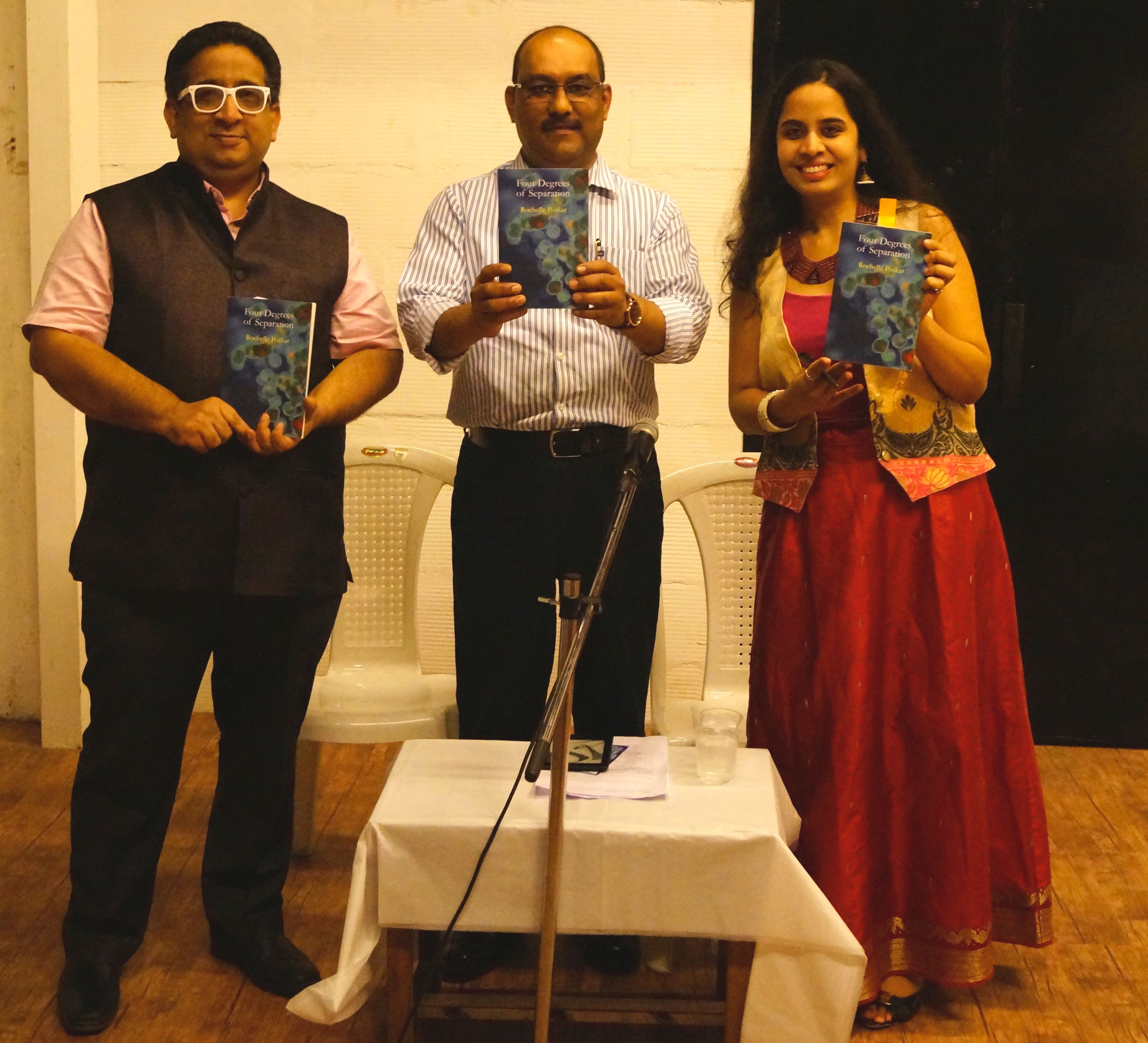 Press photo-rochelle potkar - poetry book launch (Four Degrees of Separation)