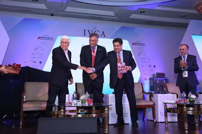 Left Mr. Nishith Desai founder of Nishith Desai Associates, Mr. Gopal Srinivasan Chairman TVS capital and IVCA and Mr. Ajay Tyagi Chairma SEBI