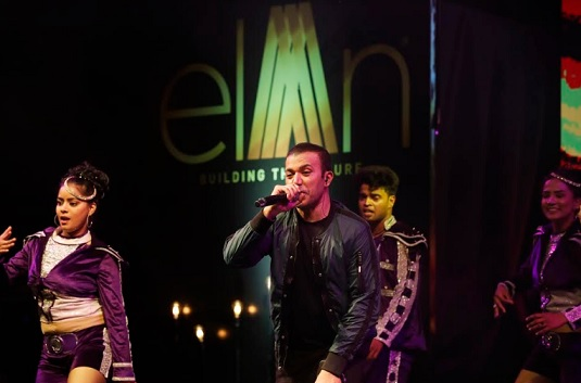 Kamaal Khan, the famous playback singer performing at Elan Epic Success Party